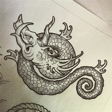 monster tattoo traditional sea search