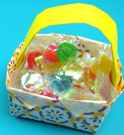Origami Easter Basket - origami easter basket allfreepapercrafts