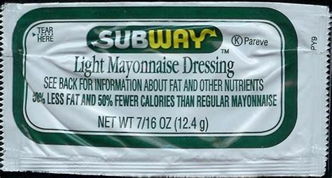 Condiment Packet Gallery by Subway Mayonnaise