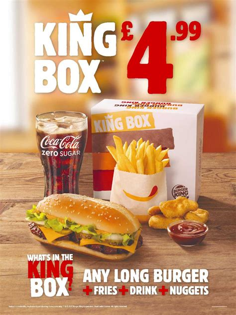 Burger King Gift Card Uk - 163 4 99 king box burger king festival place basingstoke