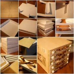 How To Make A Drawer Box Out Of Paper - 25 unique cardboard organizer ideas on diy