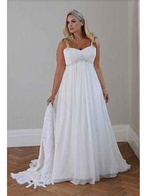 Empire Chiffon Plus Size Maternity Wedding Dresses Bridal