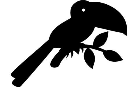 toucan silhouette vector dxf file   axisco