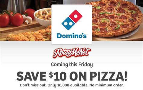 domino pizza friday offer hot deals and coupons hs free 10 domino s pizza gift card