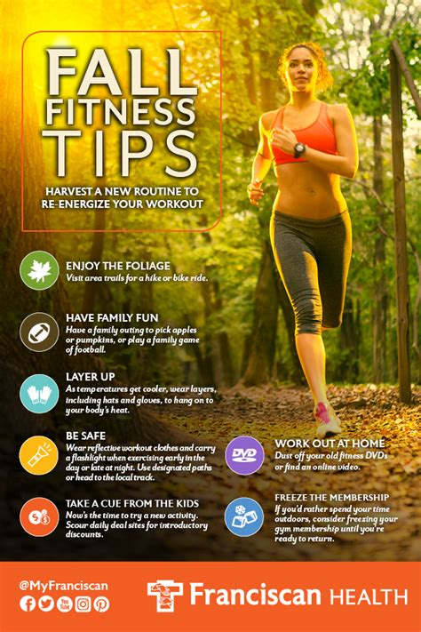 fall fitness tips infographic franciscan health