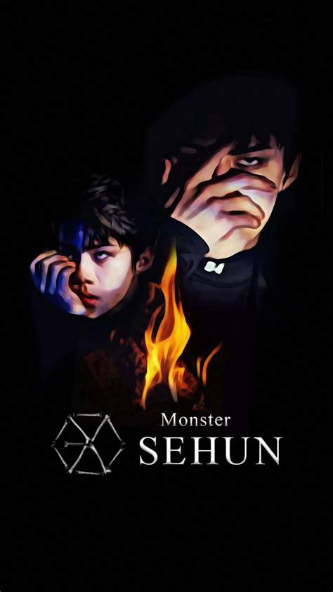 exo wallpaper fanart wallpaper exo 2016 monster teaser sehun by