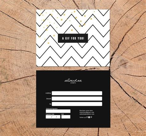 alondra double sided gift certificate template