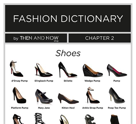 shoes infographic types of shoes then and now