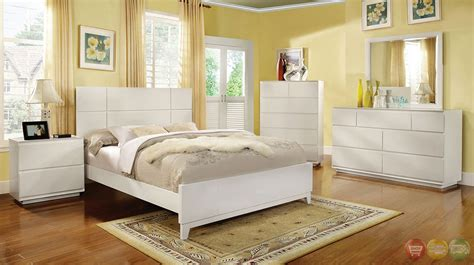 full bedroom sets white felica contemporary white bedroom set with full extension