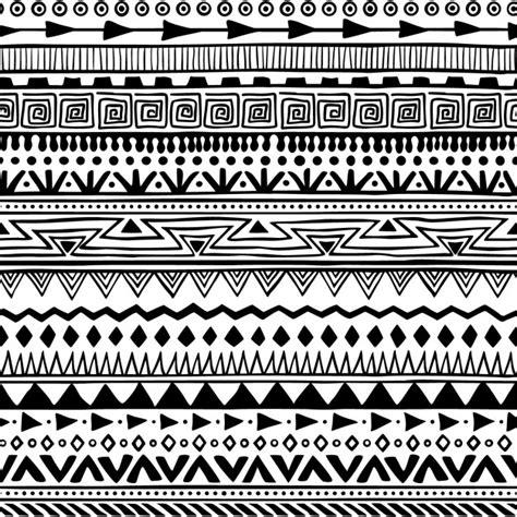 indie patterns black and white motif de style boho t 233 l 233 charger des vecteurs gratuitement