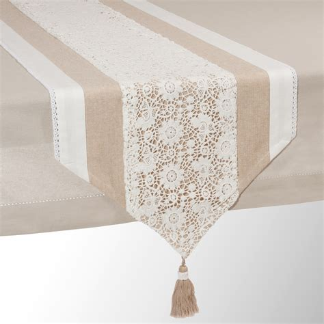 runner tavolo runner da tavolo beige in cotone l 150 cm wonderful