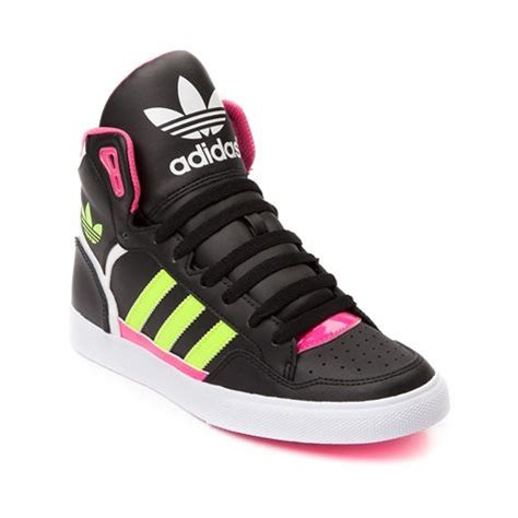 shop for womens adidas extaball athletic shoe black pink yellow at journeys shoes bold n