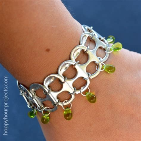 pop tab crafts projects soda pop tab upcycled bracelet tutorial happy hour projects