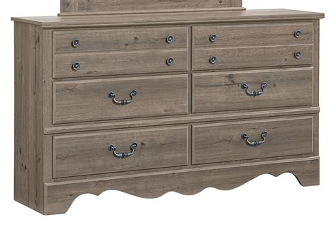 Weathered Grey Dresser by Timber Creek Weathered Grey Taupe 6 Drawer Dresser 52659