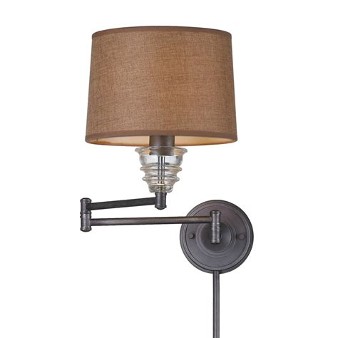 wall mounted swing arm shop westmore lighting 15 in h weathered zinc swing arm