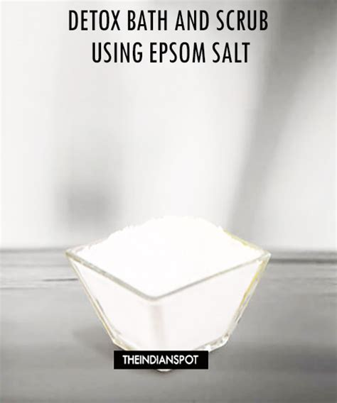 Detox Bath Baking Soda And Epsom Salt by At Home Spa Detox Bath And Scrub Using Epsom Salt