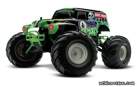 traxxas grave digger rc monster truck traxxas 1 16 rtr grave digger monster truck rcnitrotalk