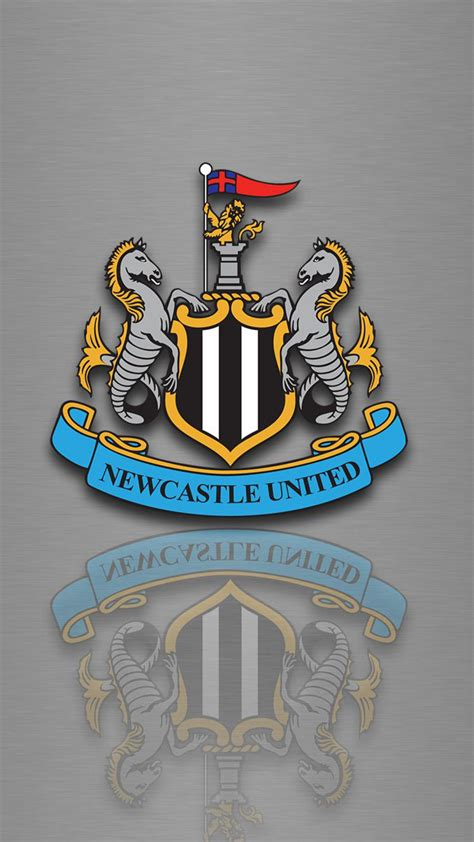 hd background newcastle united logo football club silver