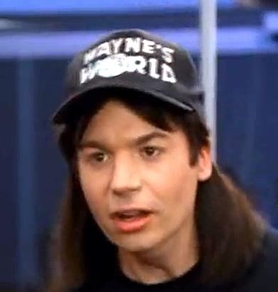 mike myers as wayne campbell in wayne's world