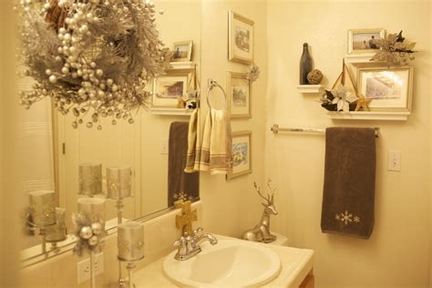 decorating themes for bathrooms bathroom christmas decoration easy to apply ideas this