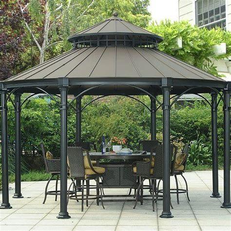 outdoor permanent gazebo 25 best ideas about permanent gazebo on deck