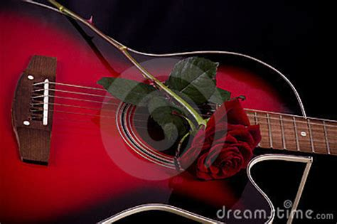 imagenes de guitarras rojas beautiful red guitar with red roses royalty free stock