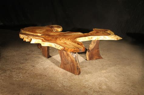 hawaiian monkey pod coffee table contemporary coffee