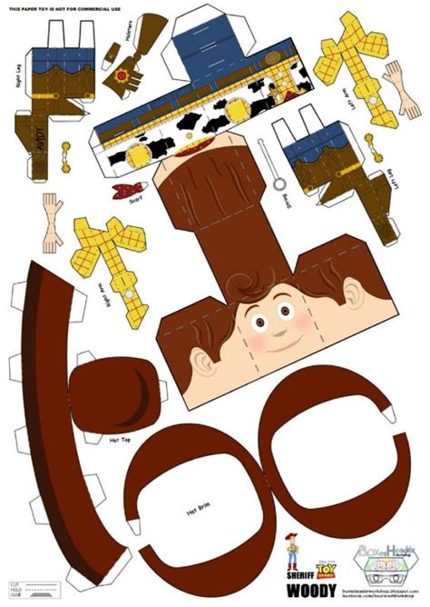 Story Papercraft - papercraft du sh 233 rif woody story crafting toys