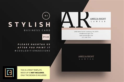 stylish business card 91 business card templates on