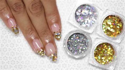 nail art glitter tips tutorial 70 most beautiful gel nail art ideas