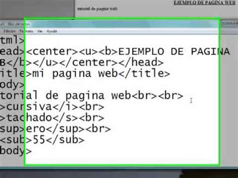 imagenes html bloc de notas html color 2 crear una pagina web con el bloc de notas