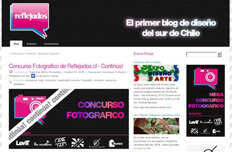 10 Best Blogs For by Reflejados Cl Y Otros Blogs De Dise 241 O Chilenos Bv