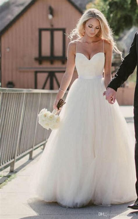 Beach Wedding Dresses 2015 New Sweetheart with Lace Corset