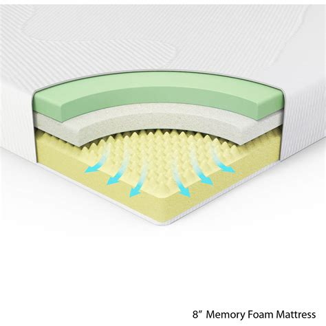 memory foam bed spa sensations 8 quot memory foam mattress full size ebay