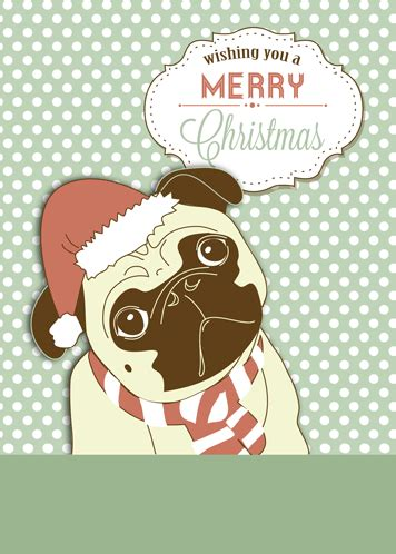 funny pug dog christmas wishes  humor pranks ecards