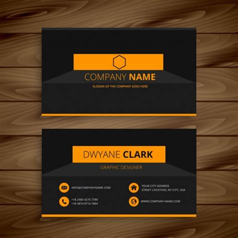 it support business card template modern business card template vector free