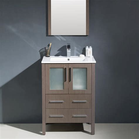 bathroom vanities at menards fresca torino 24 quot gray oak modern bathroom vanity w