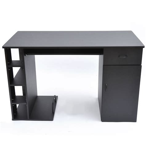 aosom homcom small home office computer desk black