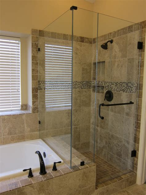 Bathroom Shower And Tub Ideas Shower And Tub Master Bathroom Remodel Traditional Bathroom Dallas By The Floor Barn