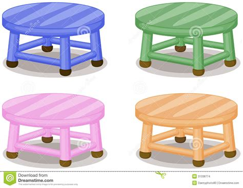 Colored Stools by Four Stools Stock Images Image 31338774