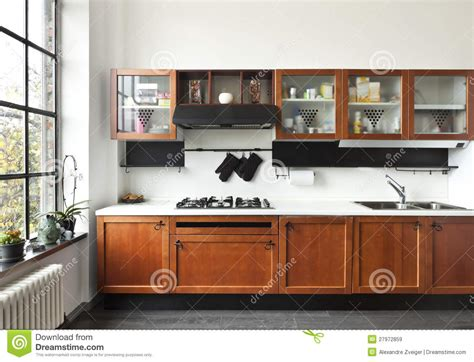 beautiful house interior view of the kitchen interior view of the kitchen royalty free stock images