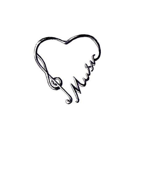 tattooed heart free music download music tattoo heart clipart best