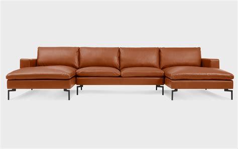 u shaped leather sofa new standard u shaped leather sectional sofa modern