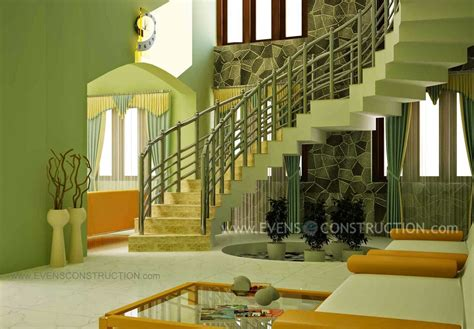 kerala home design staircase staircase design for modern kerala home living room