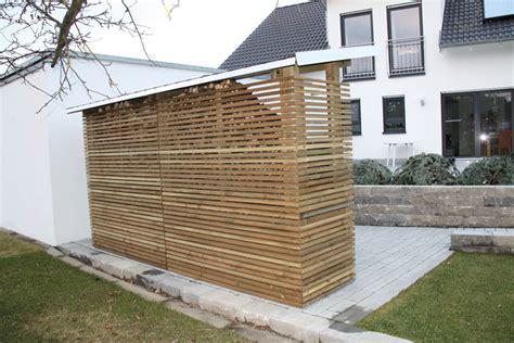 unterstand brennholz brennholzunterst 228 nde mit optischem anspruch heinzmann