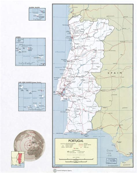large scale map large scale political and administrative map of portugal with roads railroads major cities