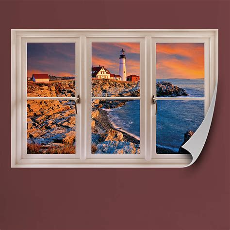 home design stores portland maine portland maine lighthouse instant window wall decal