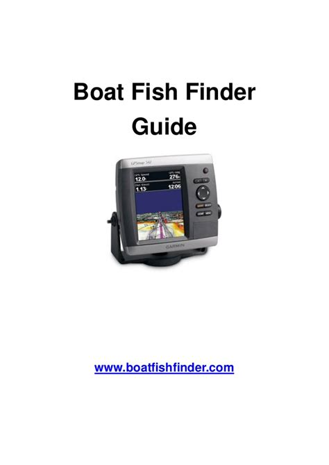 boat fish finder guide