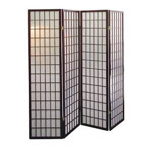 Panel Room Divider Ore International Cherry 4 Panel Room Divider By Oj Commerce R566 4 113 12