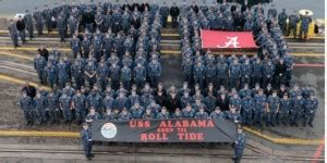 uss alabama celebrates 30th anniversary by unfurling